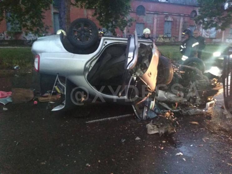В нічній аварії в Суворовському районі О…