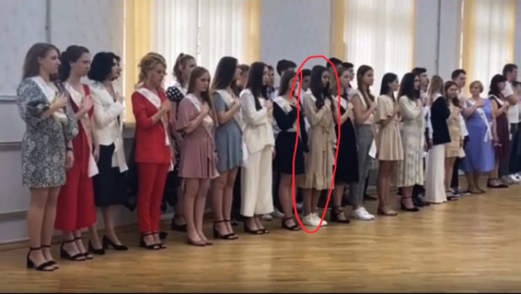 В школе на Херсонщине выпускная церемони…