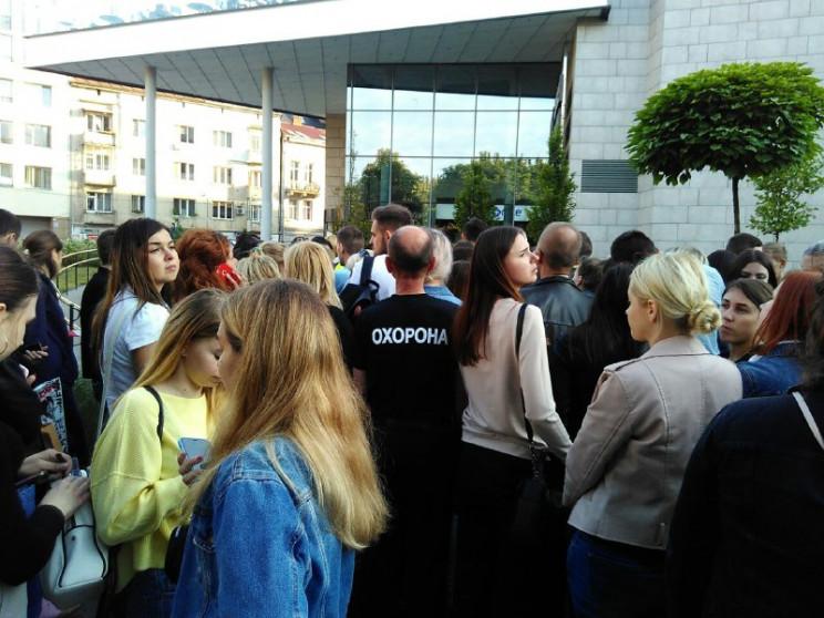 Как в центре Львова пытались произвести…