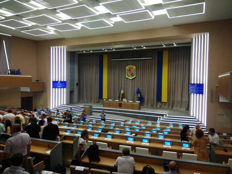 Як виглядає сесійна зала Полтавської обл…