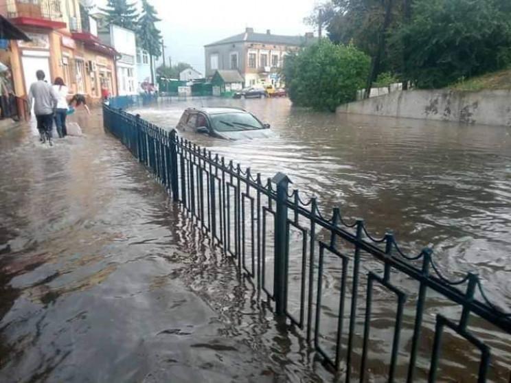 Райцентр на Тернопільщині затопила злива…