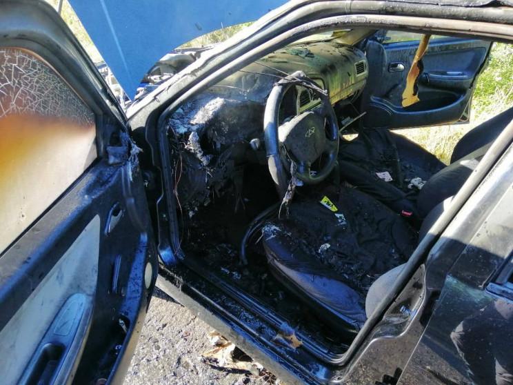 За Тивровом посеред дороги спалахнув авт…