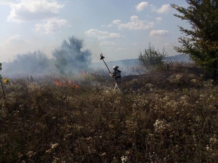 Полтора десятка пожаров тушили на Кропив…