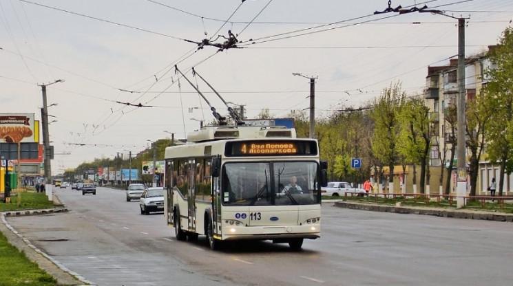 Троллейбусная линия по улицам Попова и Ж…