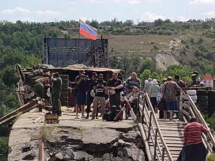 """Міст у Станиці Луганській: Як бойовики """"…"""