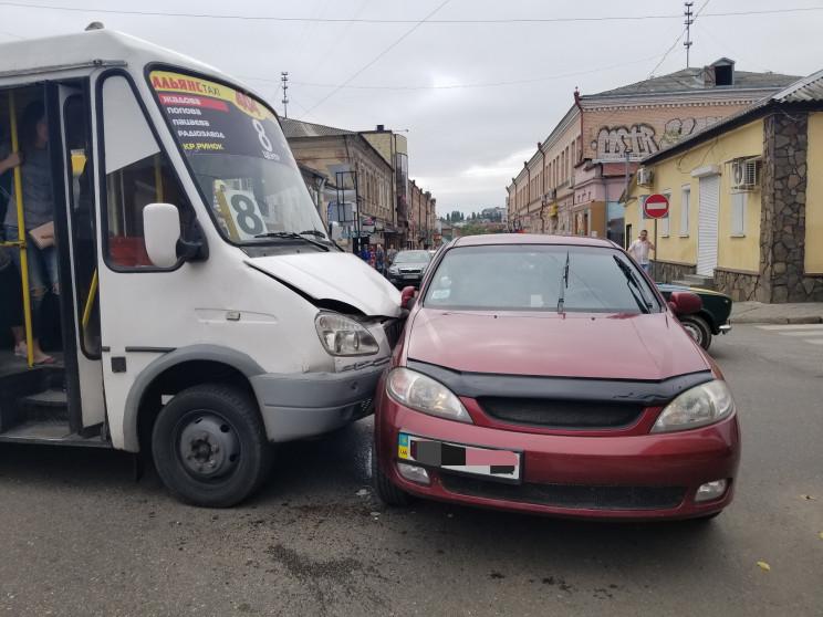 В центре Кропивницкого произошло ДТП с м…