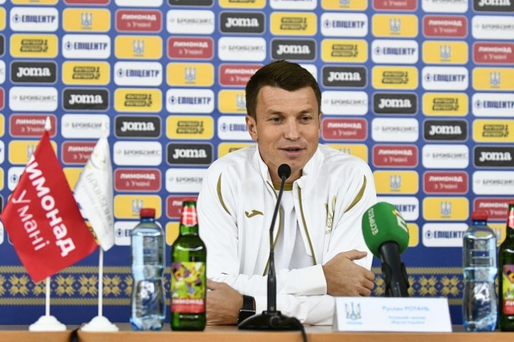 Украина играет с Финляндией, тренер Рота…