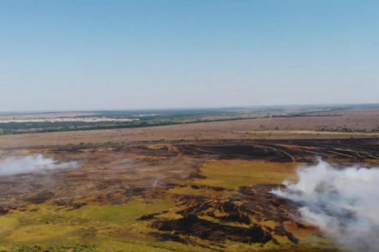 На Харківщині до гасіння пожежі на війсь…