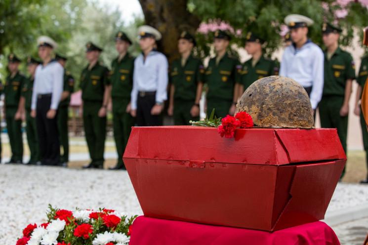 На Кубани захоронили останки красноармей…