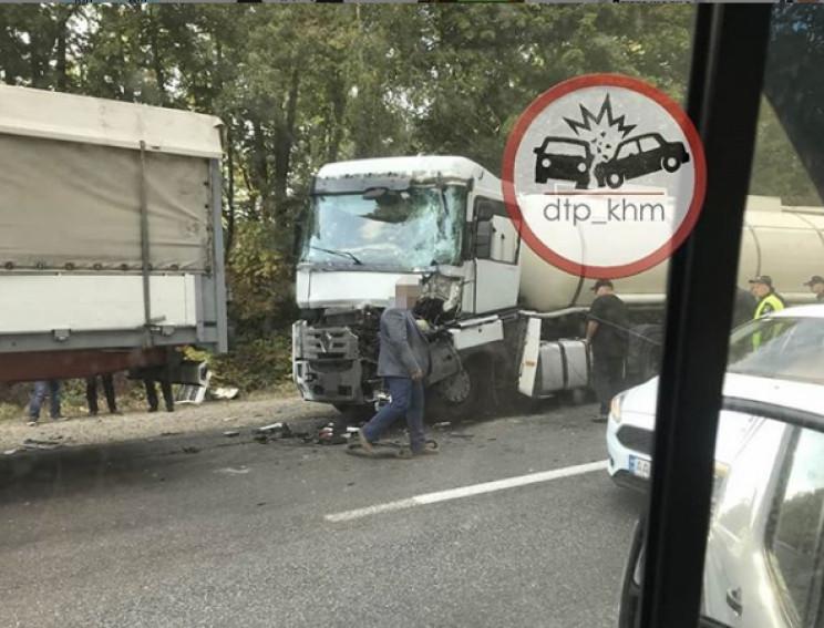 В Хмельницкой области поляк на грузовике…