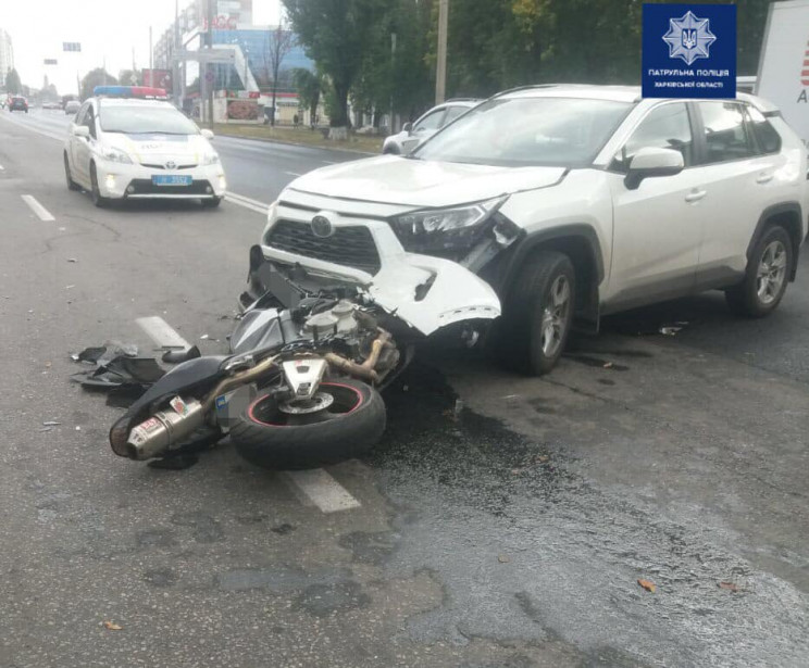 На Холодній Горі розбився мотоцикліст…