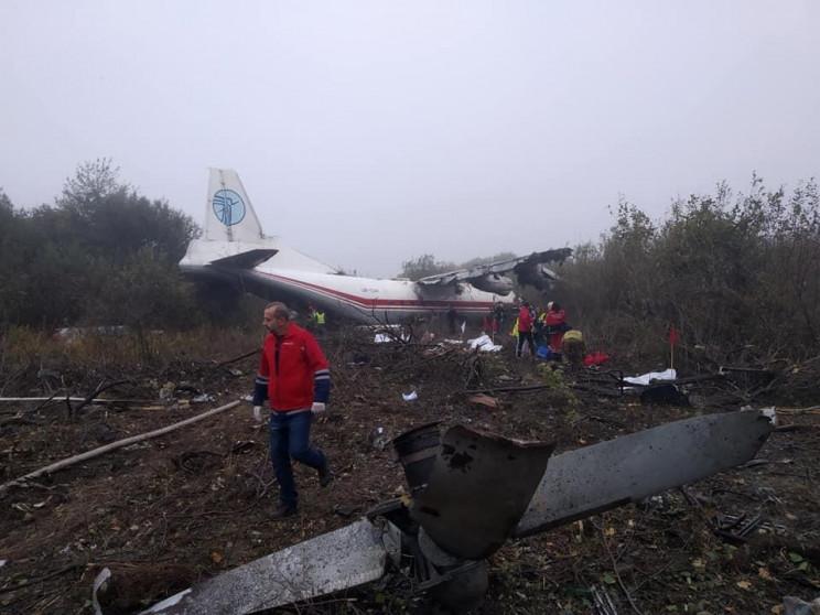 Відео дня: Катастрофа літака під Львовом…