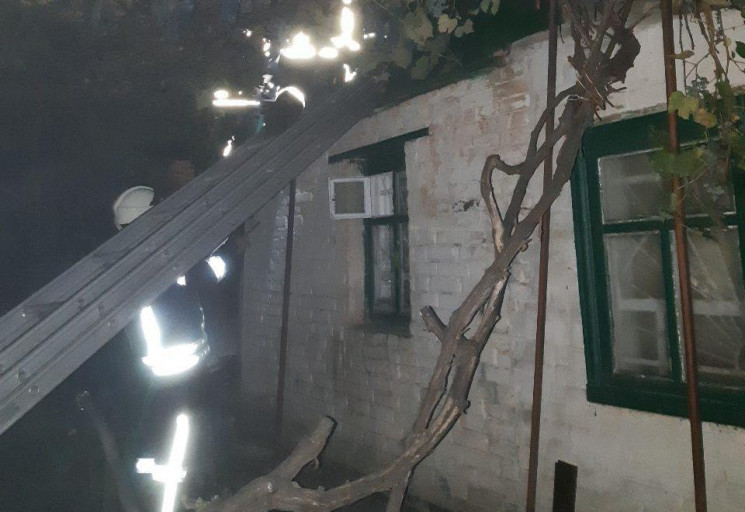 В Кропивницком сгорел дом в частном сект…