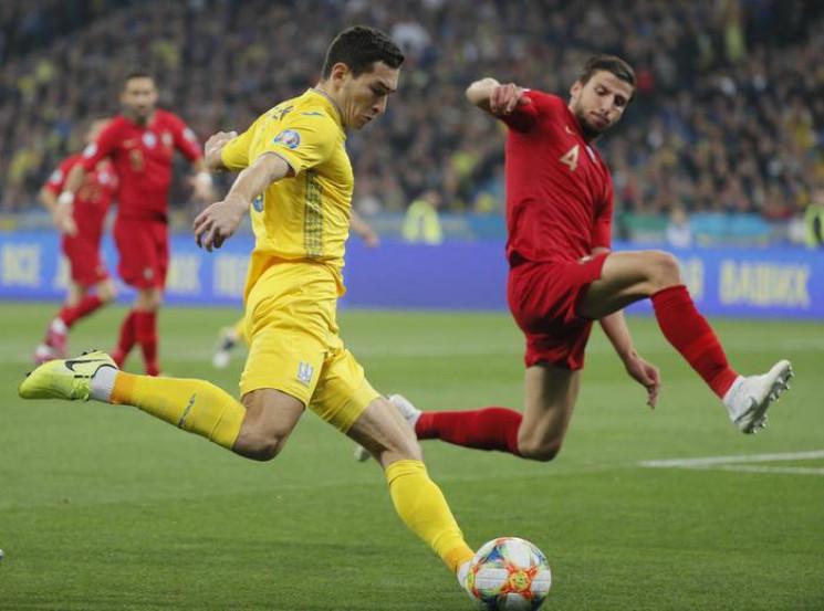 Сборная Украины победила Португалию в ма…