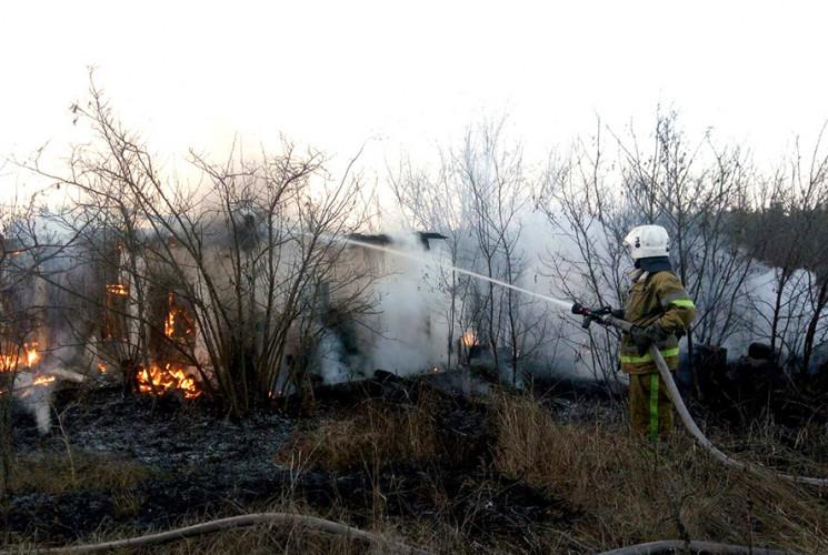 Неподалік Полтави пожежа знищила покинут…