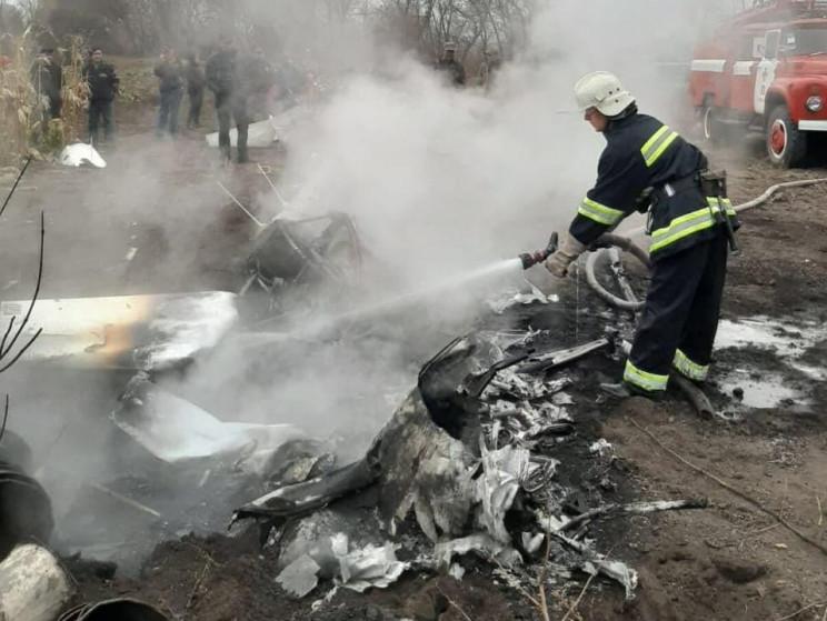 На Полтавщині впав гелікоптер, є загиблі…