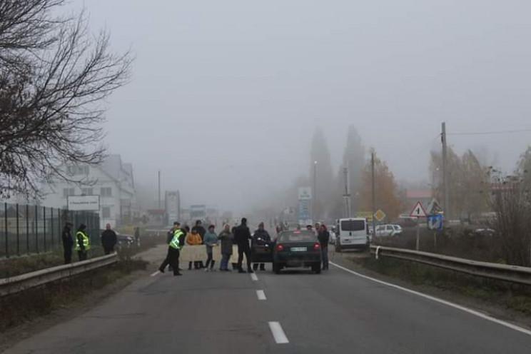Вблизи Кропивницкого перекрывали дорогу…