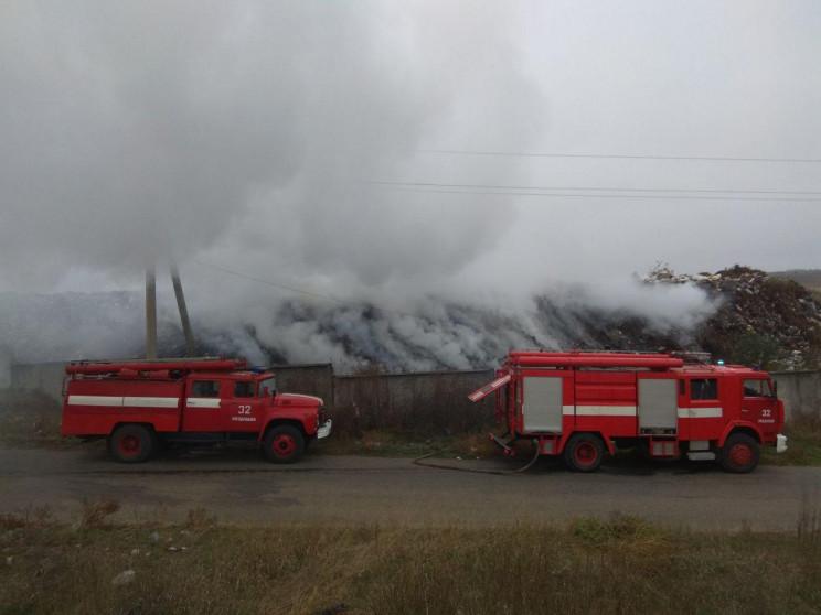 На Одещині горіло сміттєзвалище…