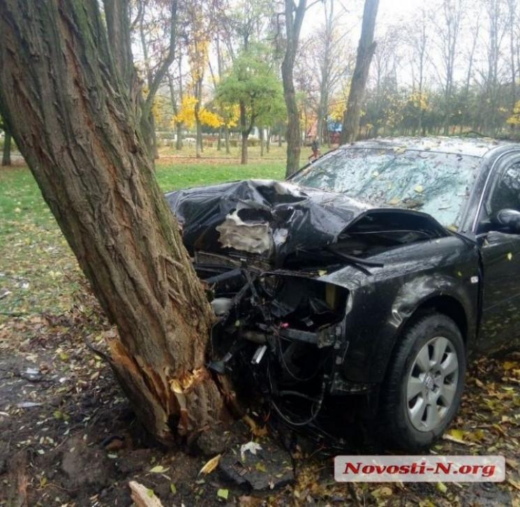 У Миколаєві водій протаранив дерево та в…