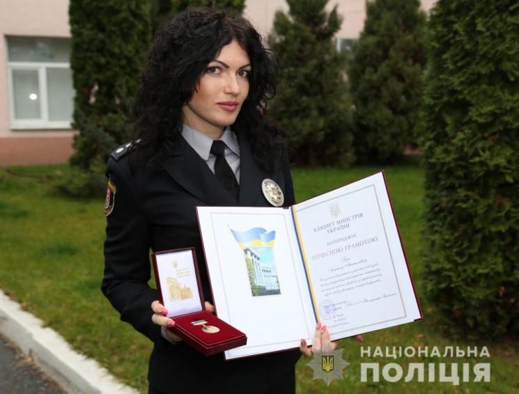 У Вінниці нагородили поліцейську, яка вр…