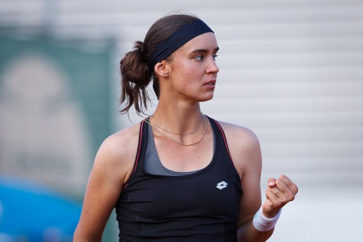 Перспективна українська тенісистка вийшл…