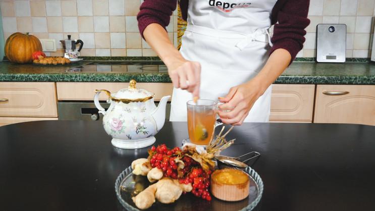Зображення  — Depo.КУХНЯ: Готуємо імбирний чай з калиною