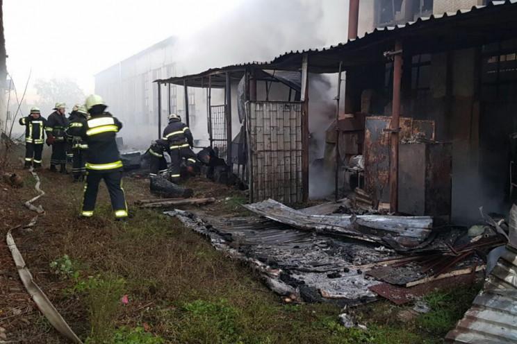 У Харкові сталася пожежа на деревообробн…