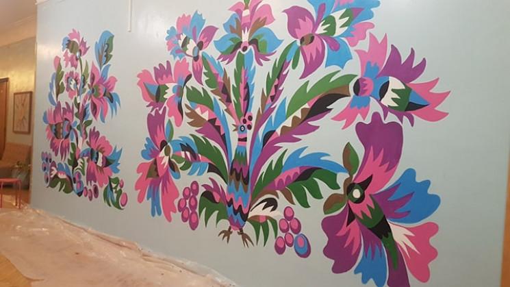 Самчиківський розпис прикрасив стіни сто…