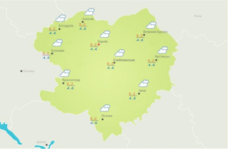 На Харківщині вдарять морози…