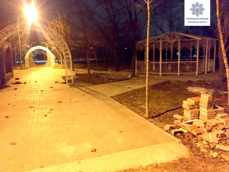 В Запорожье ночью из парка пытались укра…
