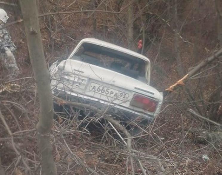 У Новоросійську машина виїхала з дороги…