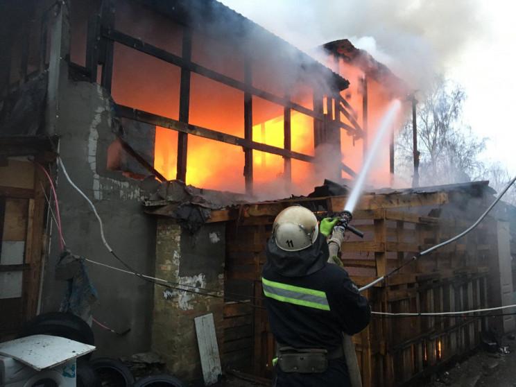 В Олександрії вщент згоріла лазня…