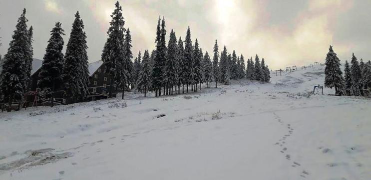Драгобрат засыпало снегом…
