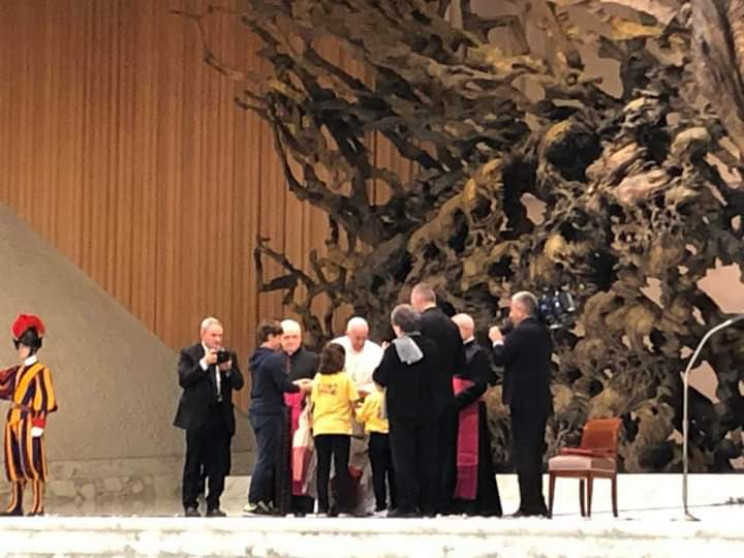 Кропивницькі школярі зустрілися з Папою…