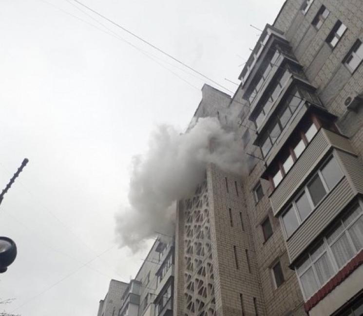 У Вінниці сталася пожежа в багатоповерхі…