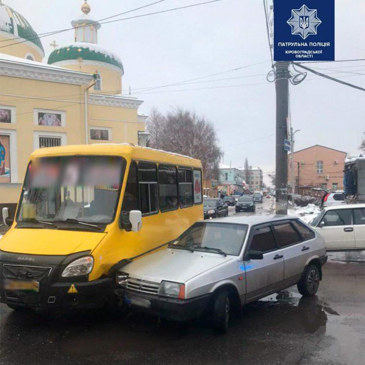 У центрі Кропивницького сталася ДТП з ма…