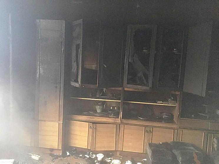 На Тячевщине горел жилой дом…