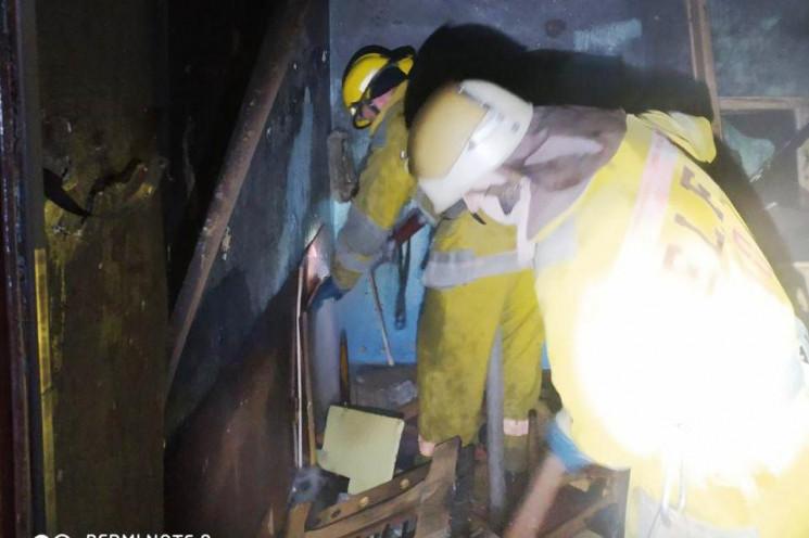 В Мелитополе во время пожара в многоэтаж…