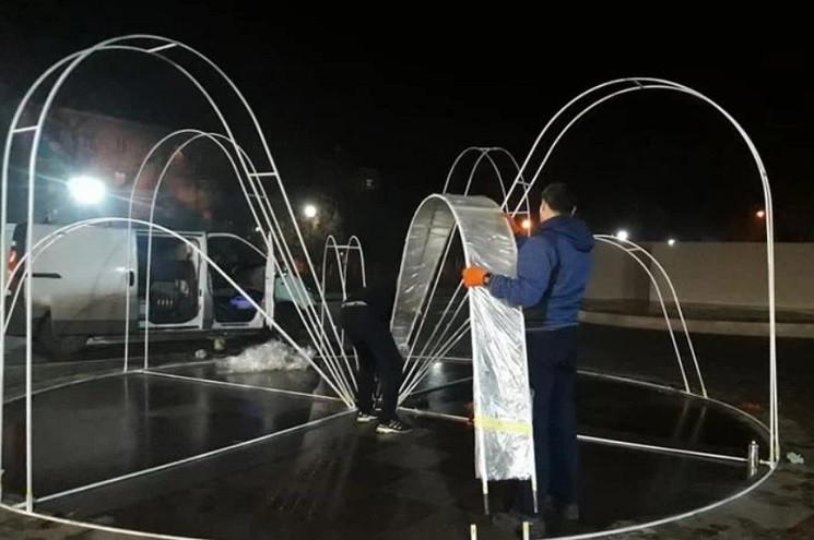 Фонтан посеред зими запрацює у Нікополі