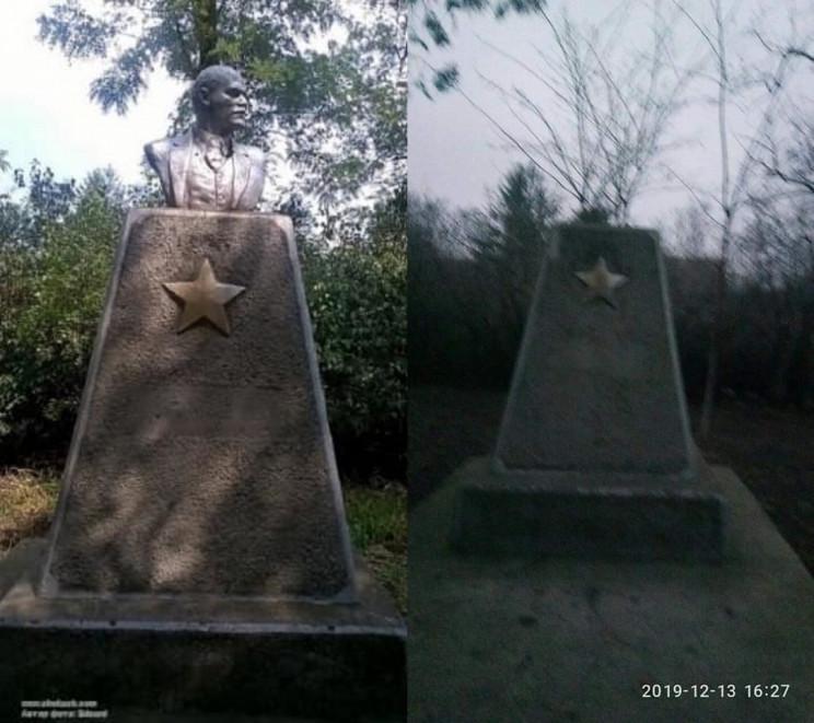 На Одещині демонтували бюст Леніна…