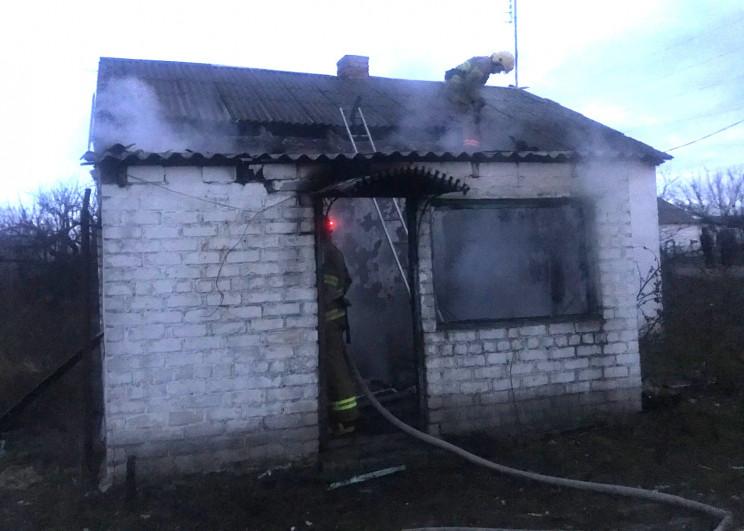 На Херсонщині палав приватний будинок…