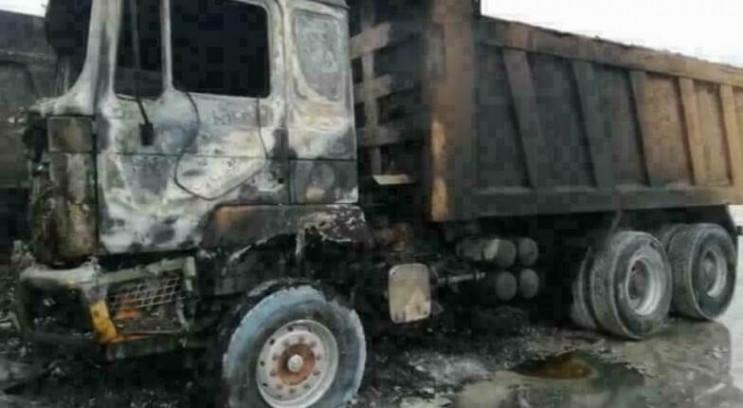 Під Новоросійськом згоріли сім вантажних…