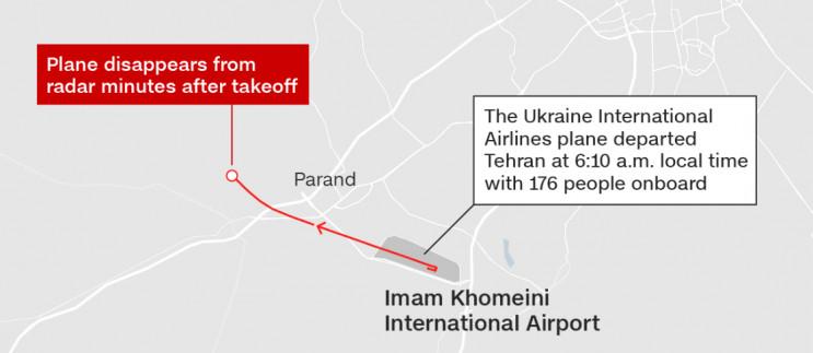Авіакатастрофа МАУ: З'явилася мапа корот…