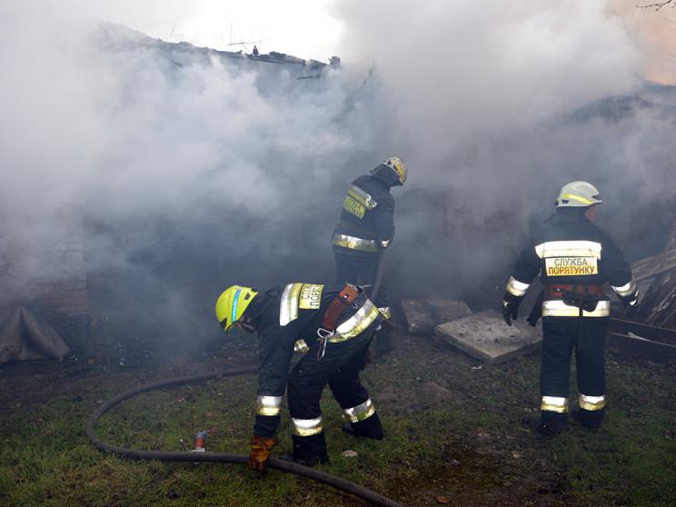 В центре Днепра сгорел частный дом…