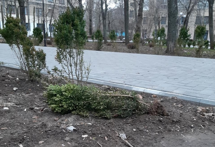 У центрі Миколаєва вандали спаплюжили но…