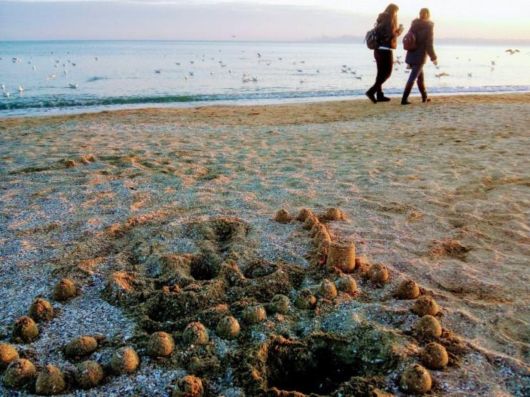 Січневий пляж на Лузанівці: Одесити прог…
