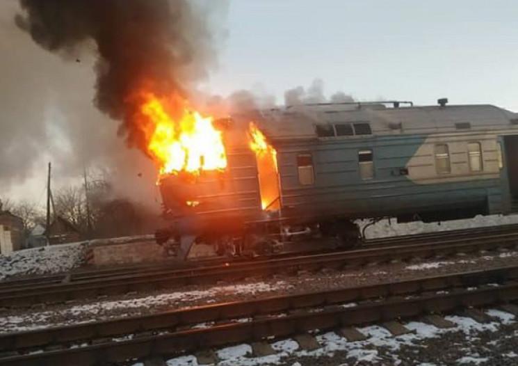 Харківський потяг спалахнув через неспра…