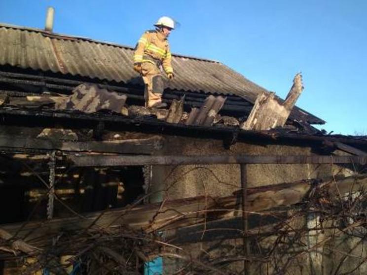 На Херсонщине горел заброшенный дом…