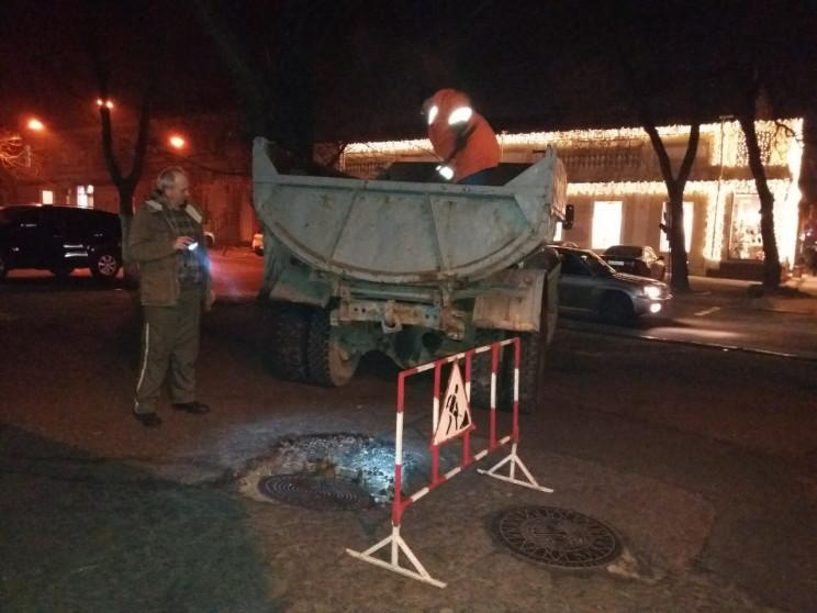 У центрі Одеси підрядники забули закопат…