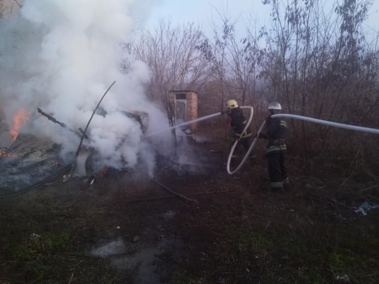 На Кропивниччине горела свалка…